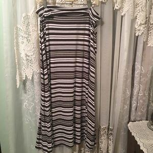 Merona Striped Maxi Skirt Sz XXL